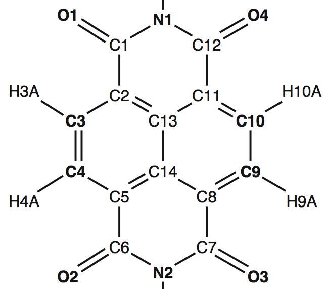 Help pdb atom labels for naphthalenediimide ccuart Images
